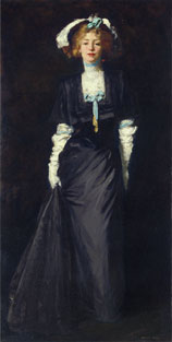 Robert Henri, Jessica Penn in Black with White Plumes