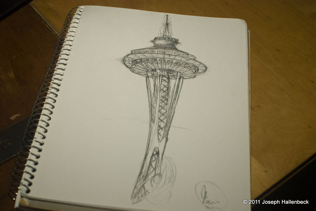 Space Needle Sketch