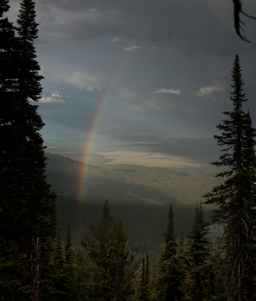 Rainbow over Island Park, Viewed from Bishop Mt.