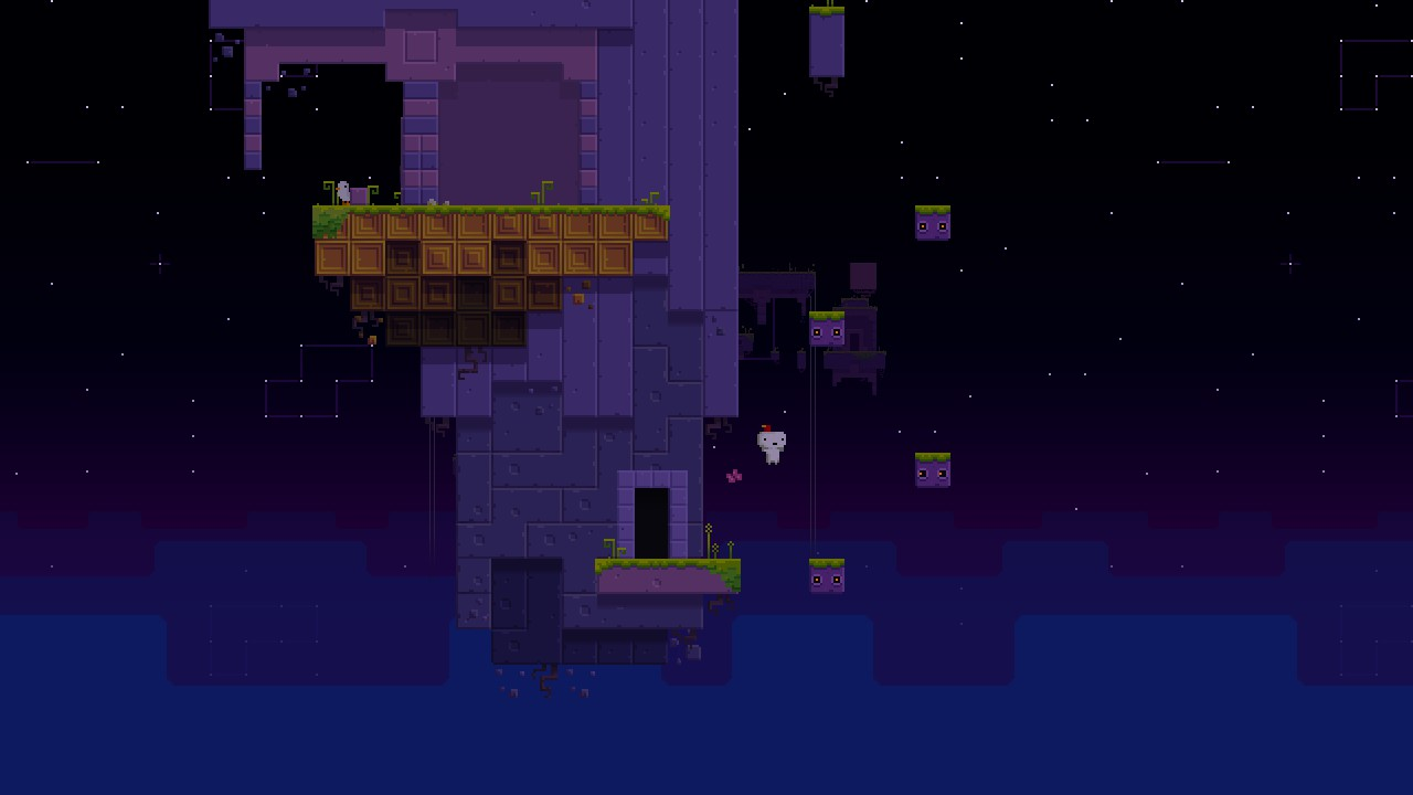 Sidescrolling Game-Play in FEZ